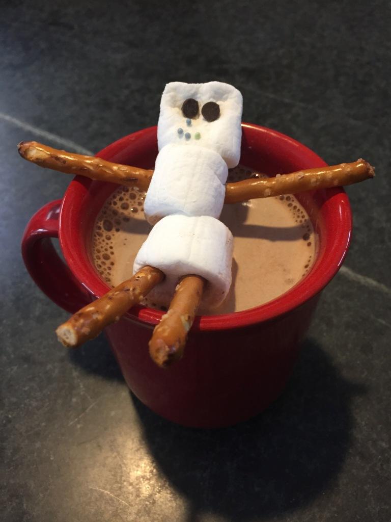 marshmallow-snowman