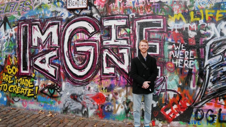 Tim at Lennon Wall