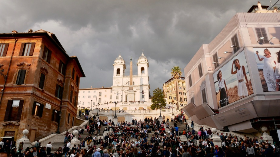 Moody clouds and Spanish Steps
